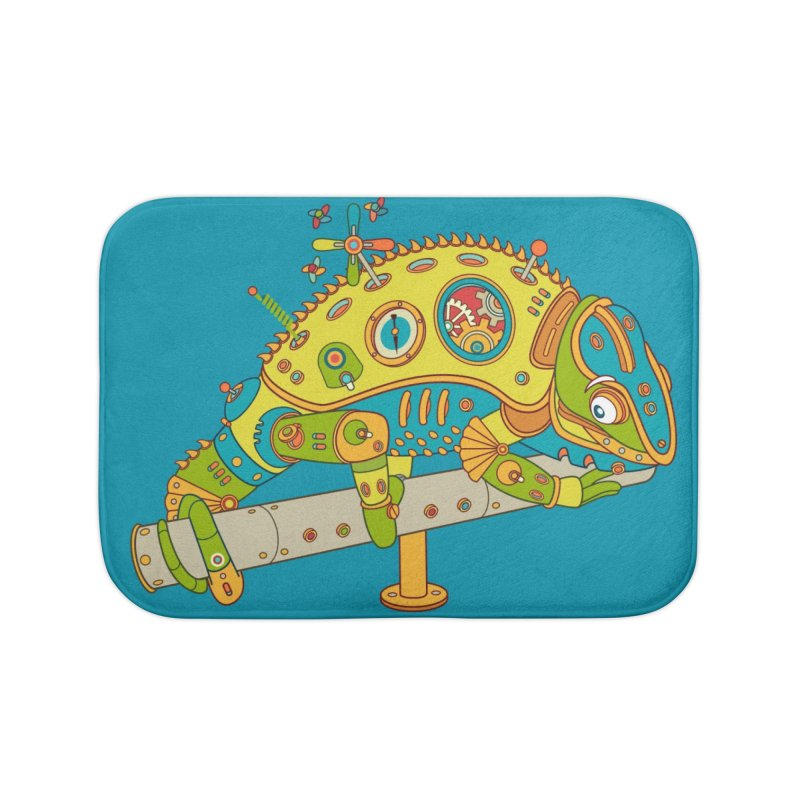 Chameleon, cool wall art for kids and adults alike Home Bath Mat by AlphaPod