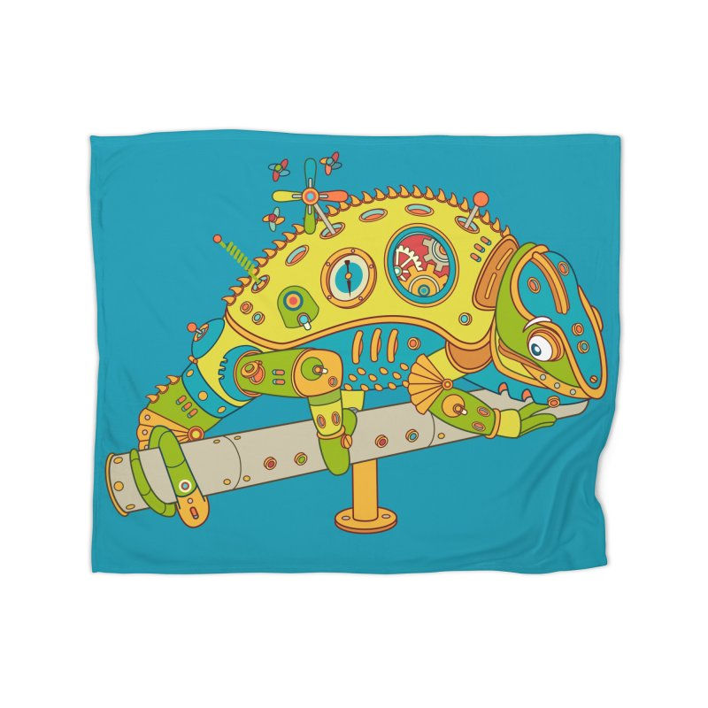 Chameleon, cool wall art for kids and adults alike Home Blanket by AlphaPod