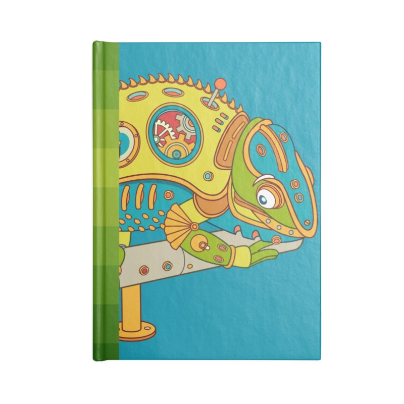 Chameleon, cool art from the AlphaPod Collection Accessories Lined Journal Notebook by AlphaPod