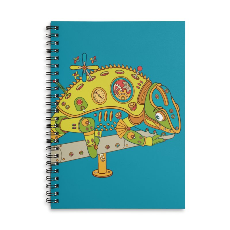 Chameleon, cool art from the AlphaPod Collection Accessories Lined Spiral Notebook by AlphaPod