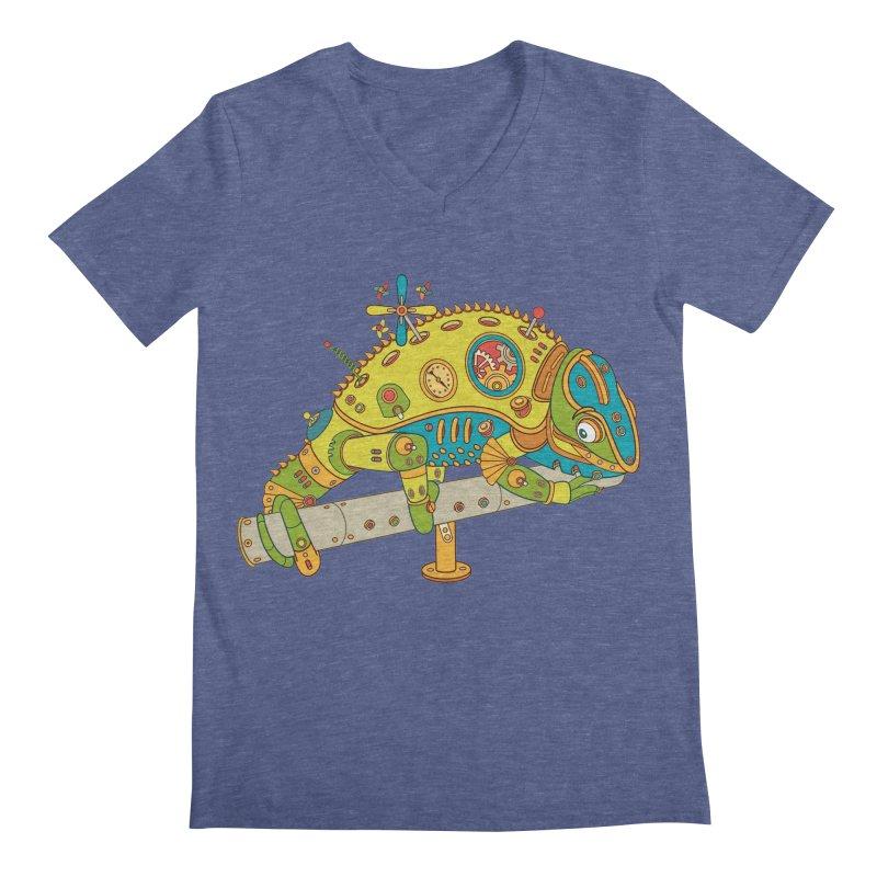 Chameleon, cool art from the AlphaPod Collection Men's V-Neck by AlphaPod