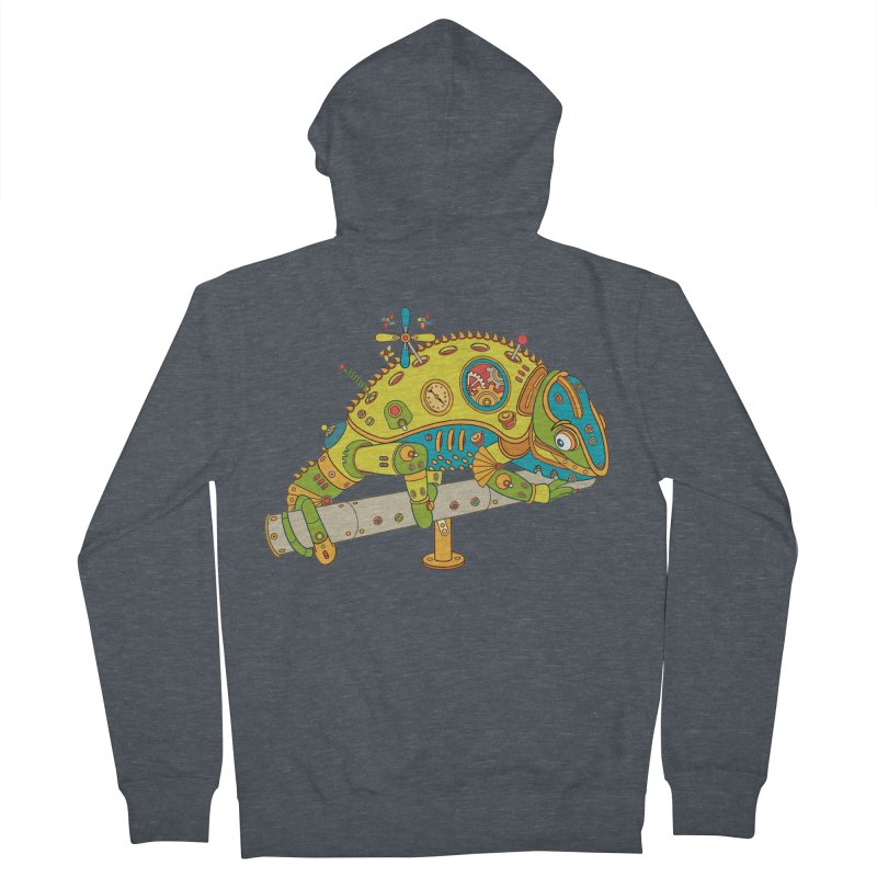 Chameleon, cool art from the AlphaPod Collection Men's Zip-Up Hoody by AlphaPod