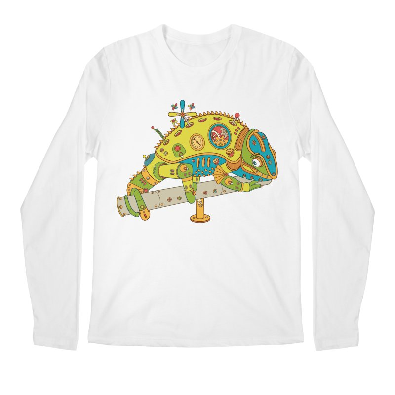 Chameleon, cool art from the AlphaPod Collection Men's Longsleeve T-Shirt by AlphaPod
