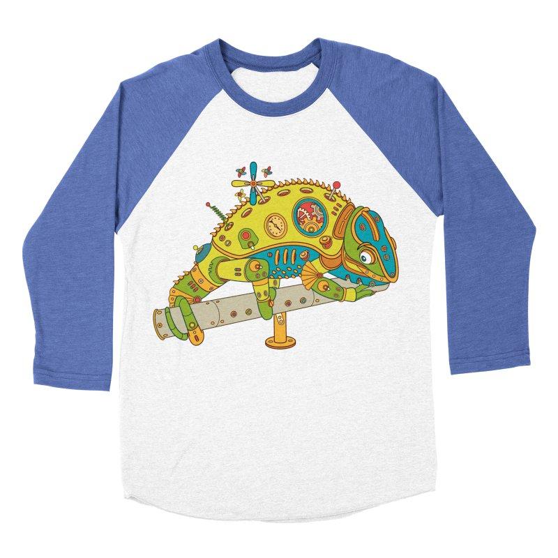 Chameleon, cool wall art for kids and adults alike Women's Baseball Triblend T-Shirt by AlphaPod