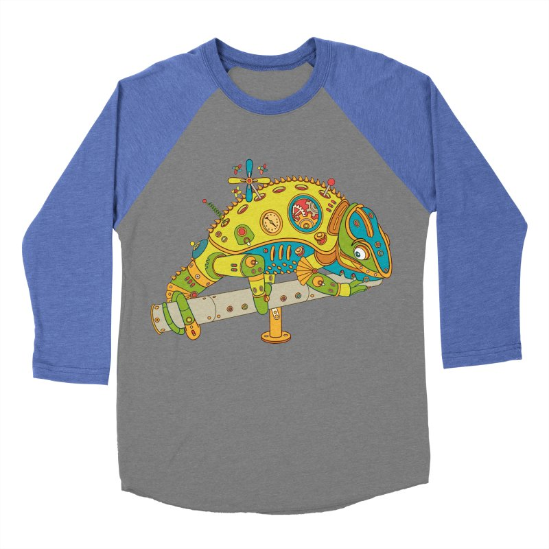 Chameleon, cool art from the AlphaPod Collection Women's Baseball Triblend Longsleeve T-Shirt by AlphaPod