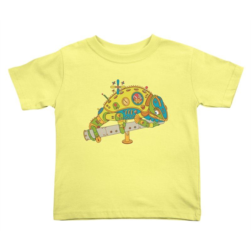 Chameleon, cool art from the AlphaPod Collection Kids Toddler T-Shirt by AlphaPod