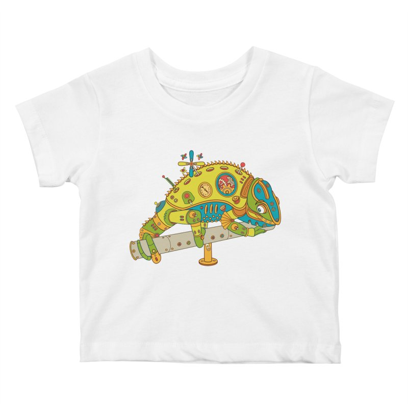 Chameleon, cool wall art for kids and adults alike Kids Baby T-Shirt by AlphaPod