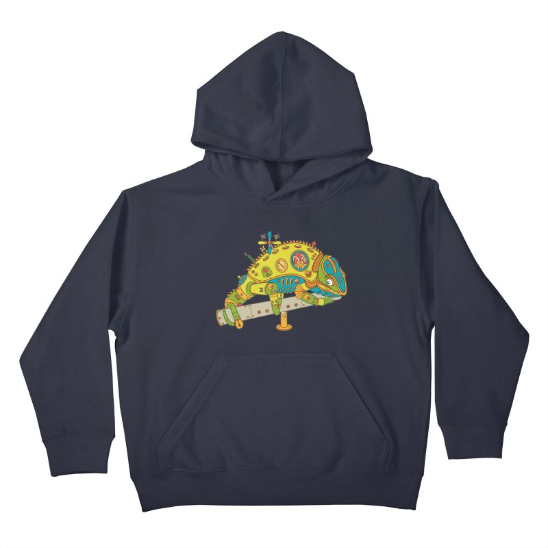 Chameleon, cool art from the AlphaPod Collection Kids Pullover Hoody by AlphaPod