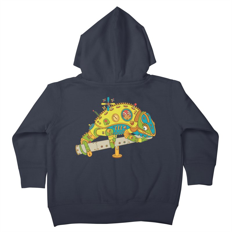 Chameleon, cool art from the AlphaPod Collection Kids Toddler Zip-Up Hoody by AlphaPod