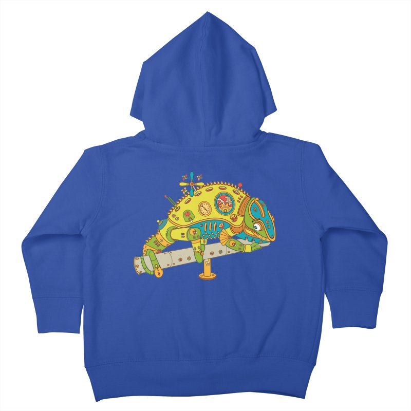 Chameleon, cool wall art for kids and adults alike Kids Toddler Zip-Up Hoody by AlphaPod
