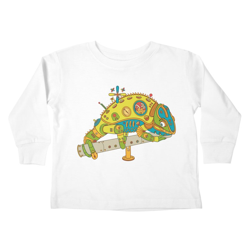Chameleon, cool art from the AlphaPod Collection Kids Toddler Longsleeve T-Shirt by AlphaPod