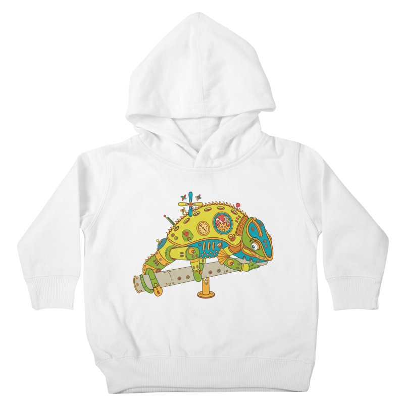 Chameleon, cool art from the AlphaPod Collection Kids Toddler Pullover Hoody by AlphaPod