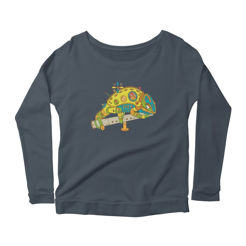 Chameleon, cool art from the AlphaPod Collection Women's Longsleeve Scoopneck  by AlphaPod
