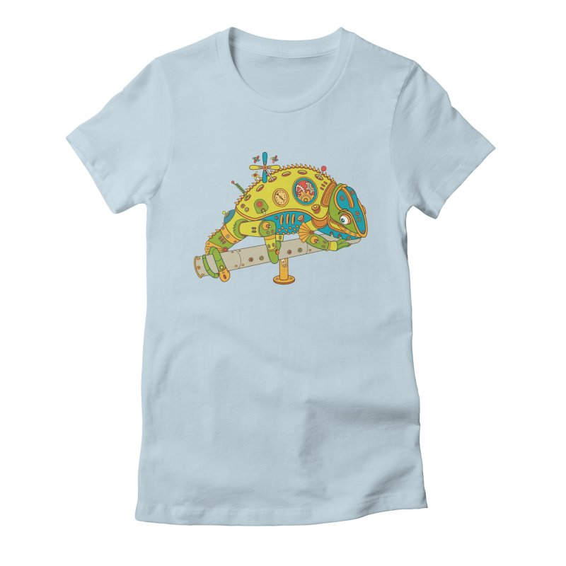 Chameleon, cool art from the AlphaPod Collection Women's Fitted T-Shirt by AlphaPod