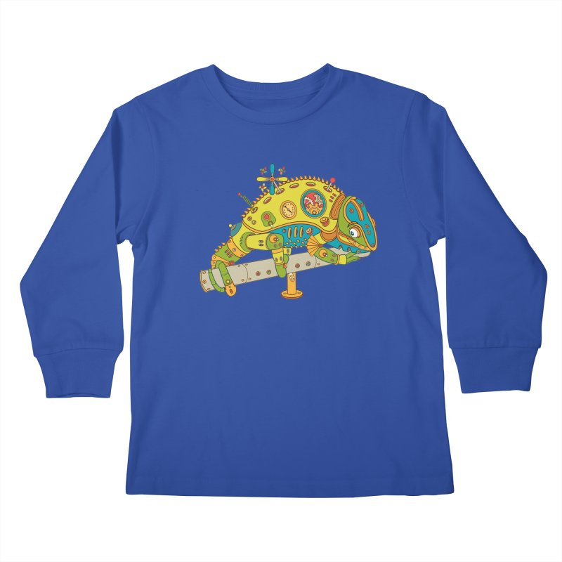 Chameleon, cool art from the AlphaPod Collection Kids Longsleeve T-Shirt by AlphaPod
