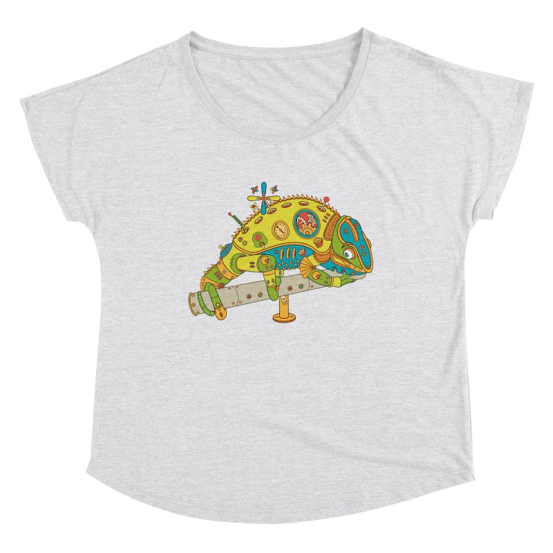 Chameleon, cool art from the AlphaPod Collection Women's Scoop Neck by AlphaPod