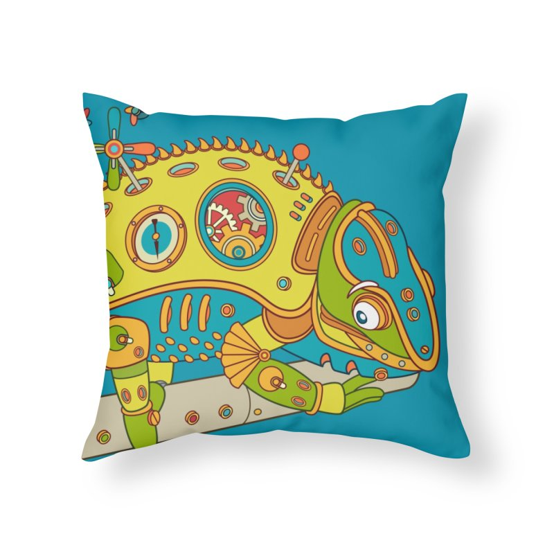 Chameleon, cool art from the AlphaPod Collection Home Throw Pillow by AlphaPod