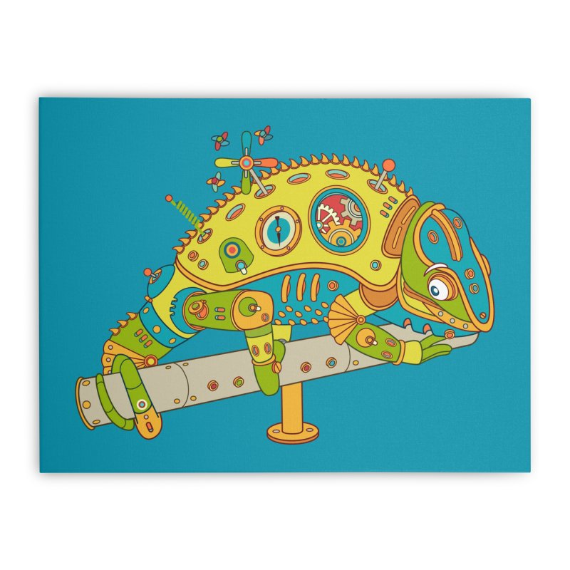 Chameleon, cool wall art for kids and adults alike Home Stretched Canvas by AlphaPod