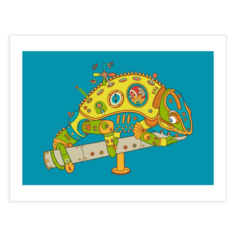 Chameleon, cool wall art for kids and adults alike Home Fine Art Print by AlphaPod