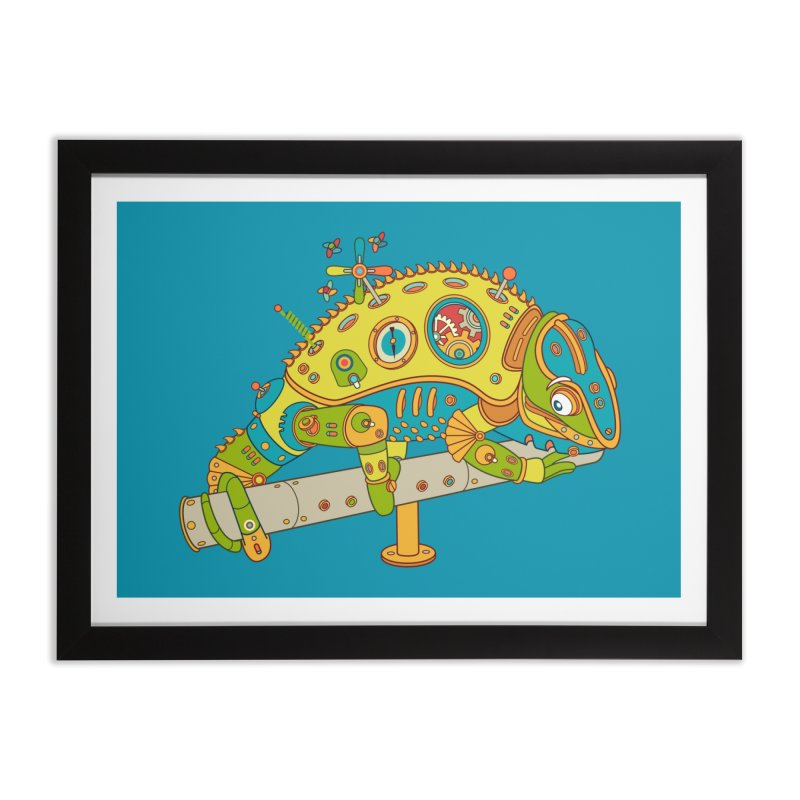 Chameleon, cool art from the AlphaPod Collection Home Framed Fine Art Print by AlphaPod