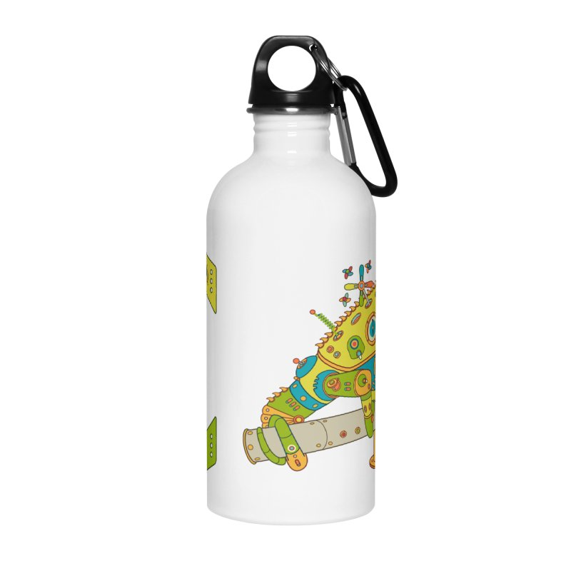 Chameleon, cool art from the AlphaPod Collection Accessories Water Bottle by AlphaPod