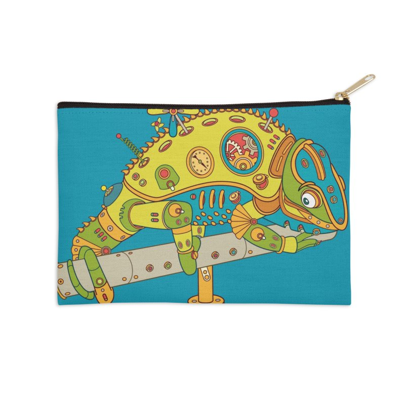 Chameleon, cool art from the AlphaPod Collection Accessories Zip Pouch by AlphaPod