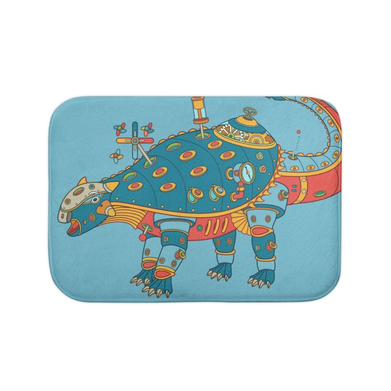 Dinosaur, cool art from the AlphaPod Collection Home Bath Mat by AlphaPod