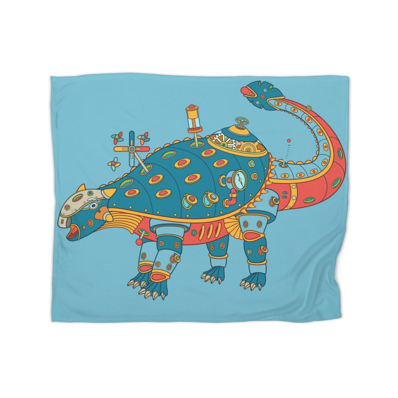 Dinosaur, cool wall art for kids and adults alike Home Blanket by AlphaPod