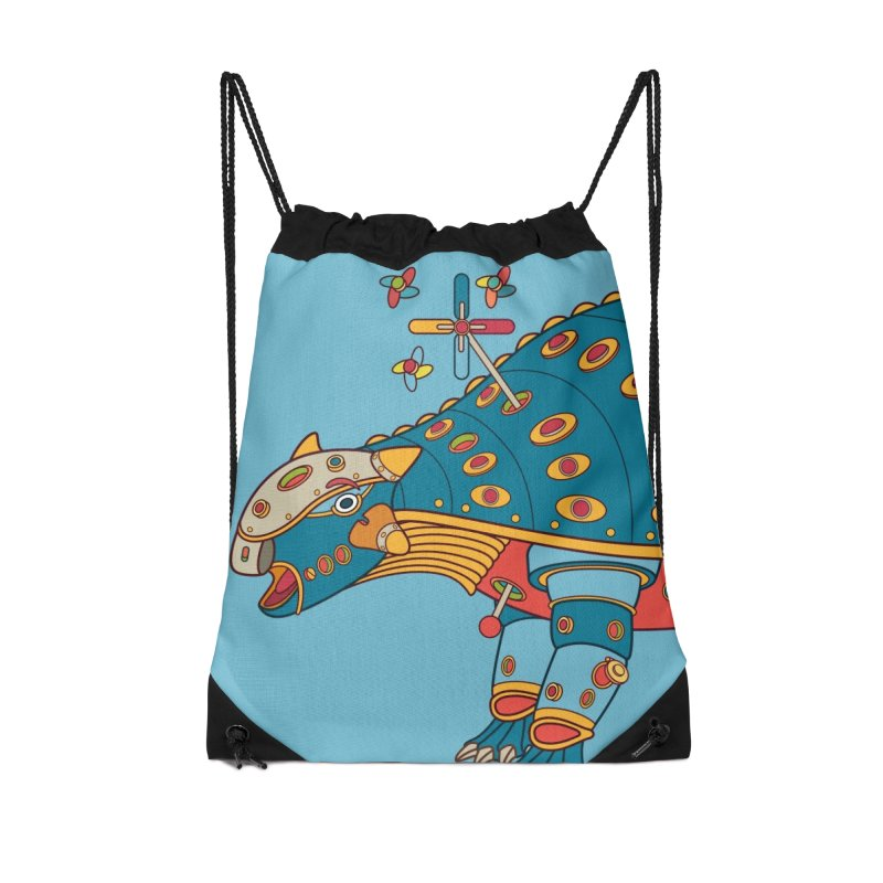 Dinosaur, cool art from the AlphaPod Collection Accessories Drawstring Bag Bag by AlphaPod