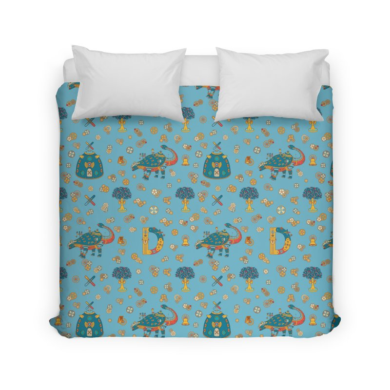 Dinosaur, cool art from the AlphaPod Collection Home Duvet by AlphaPod