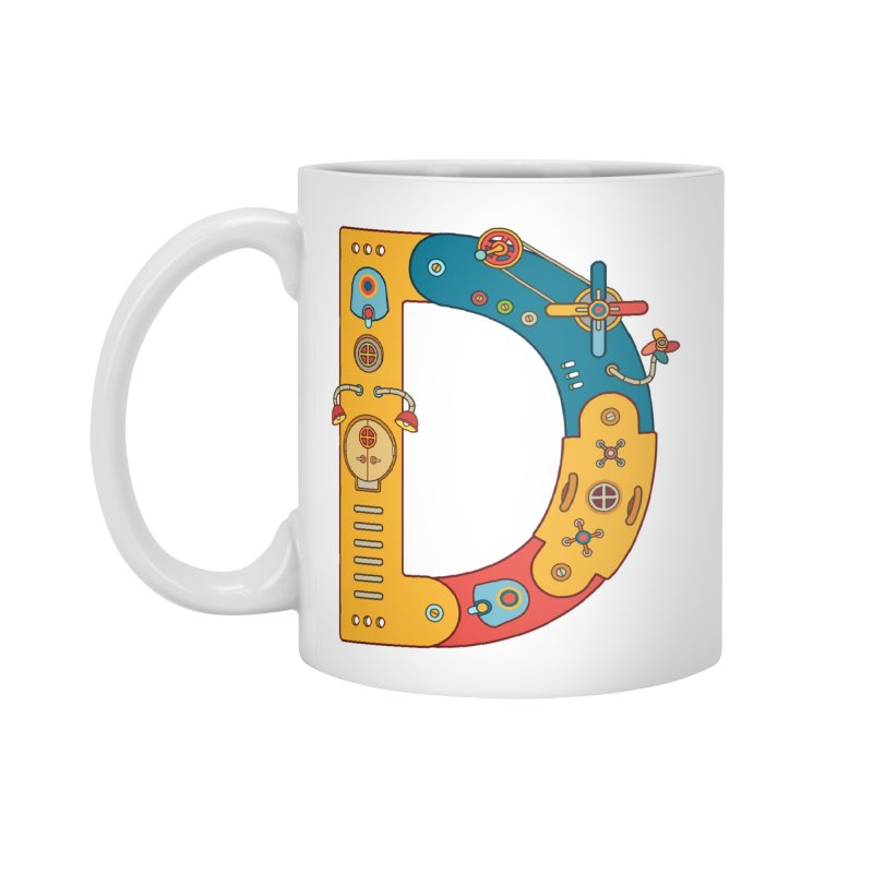 Dinosaur, cool art from the AlphaPod Collection Accessories Standard Mug by AlphaPod