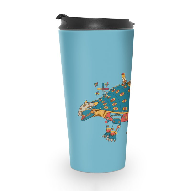 Dinosaur, cool art from the AlphaPod Collection Accessories Travel Mug by AlphaPod