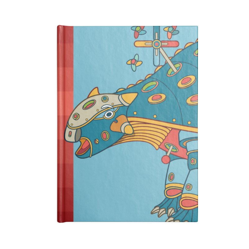 Dinosaur, cool art from the AlphaPod Collection Accessories Lined Journal Notebook by AlphaPod