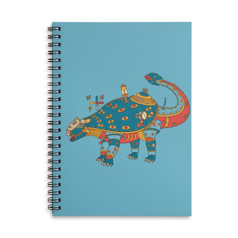 Dinosaur, cool art from the AlphaPod Collection Accessories Lined Spiral Notebook by AlphaPod