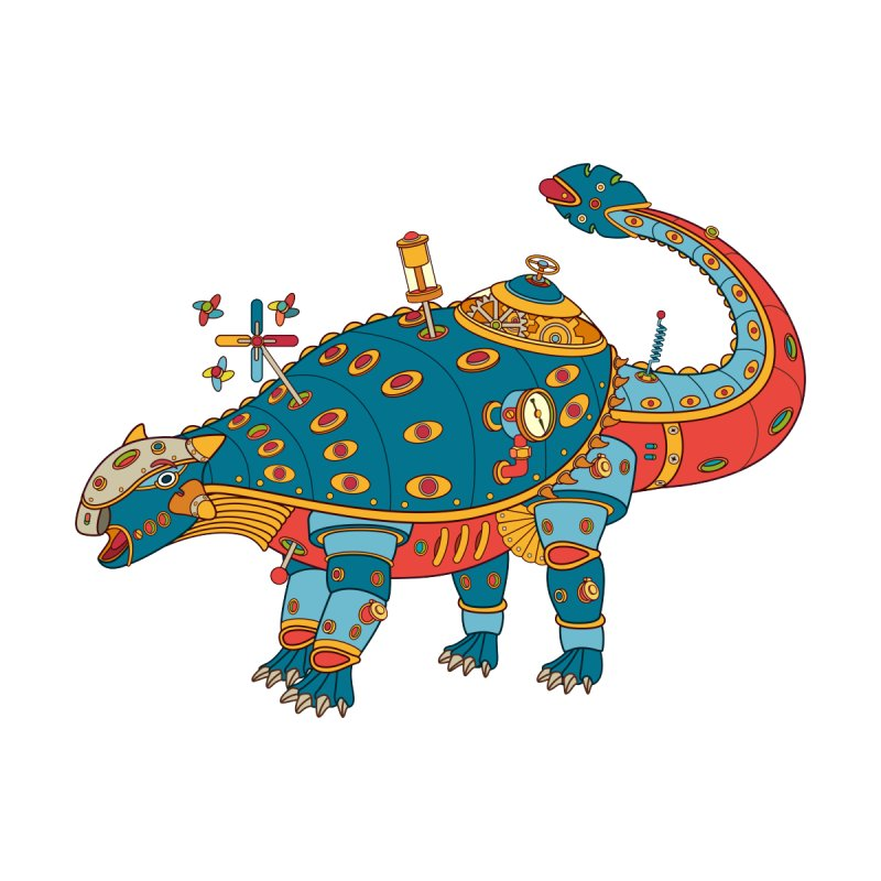Dinosaur, cool art from the AlphaPod Collection Kids Longsleeve T-Shirt by AlphaPod