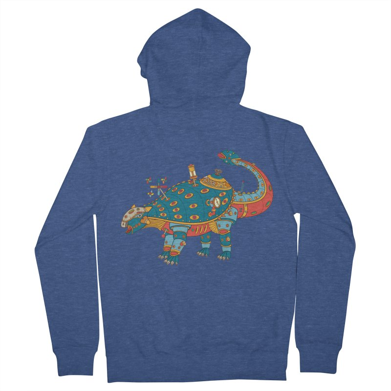 Dinosaur, cool art from the AlphaPod Collection Men's Zip-Up Hoody by AlphaPod