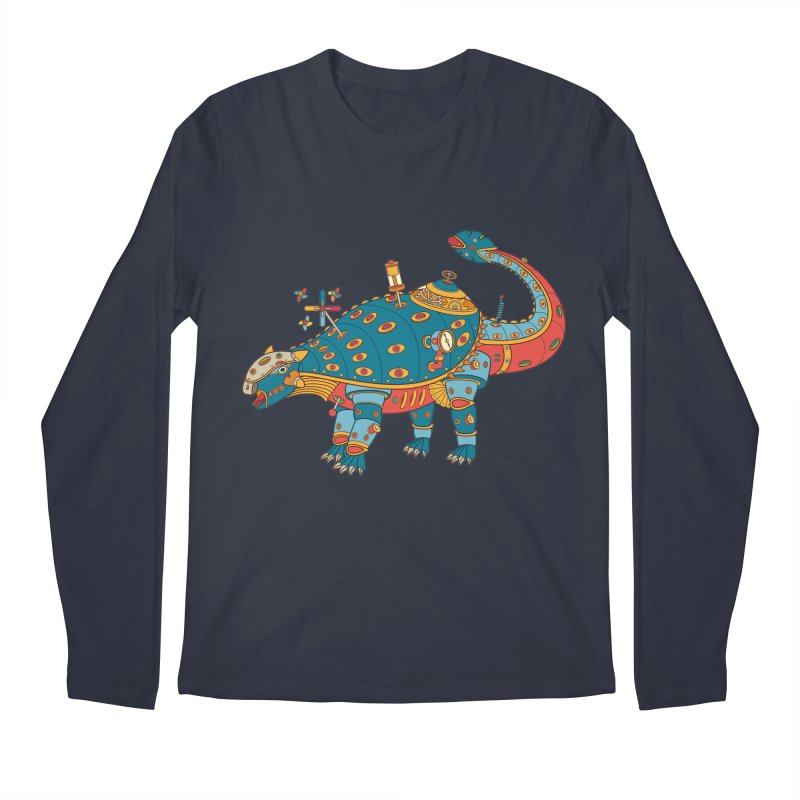 Dinosaur, cool art from the AlphaPod Collection Men's Longsleeve T-Shirt by AlphaPod
