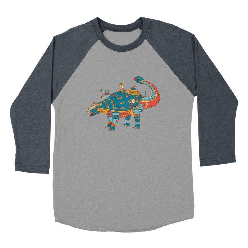 Dinosaur, cool art from the AlphaPod Collection Men's Baseball Triblend Longsleeve T-Shirt by AlphaPod