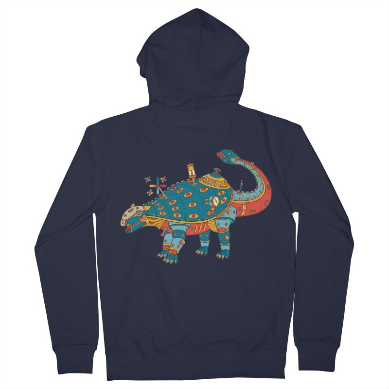 Dinosaur, cool art from the AlphaPod Collection Men's French Terry Zip-Up Hoody by AlphaPod