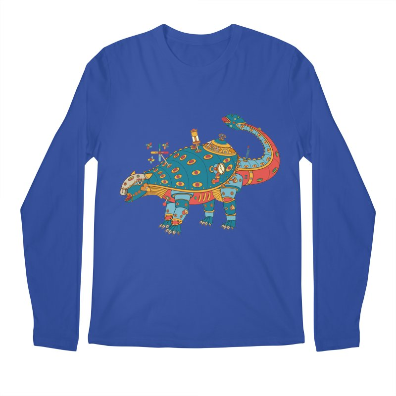 Dinosaur, cool art from the AlphaPod Collection Men's Regular Longsleeve T-Shirt by AlphaPod