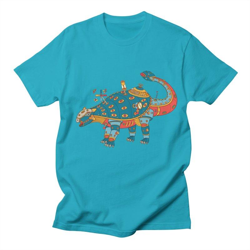 Dinosaur, cool art from the AlphaPod Collection Men's Regular T-Shirt by AlphaPod