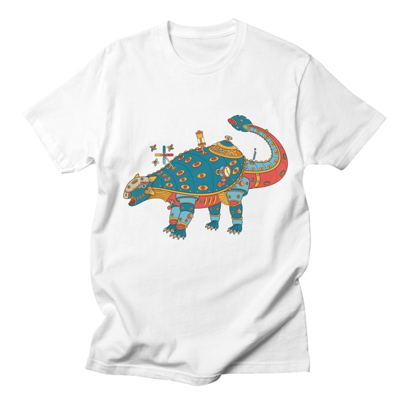Dinosaur, cool art from the AlphaPod Collection Men's Regular T-Shirt by AlphaPod