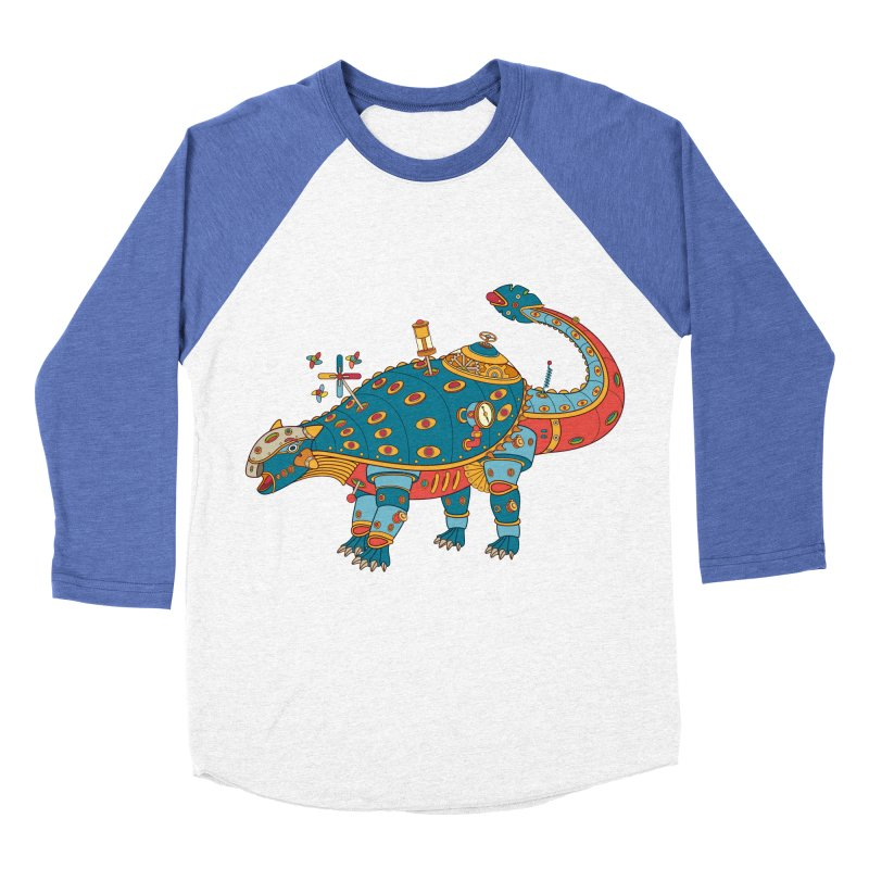 Dinosaur, cool art from the AlphaPod Collection Women's Baseball Triblend T-Shirt by AlphaPod