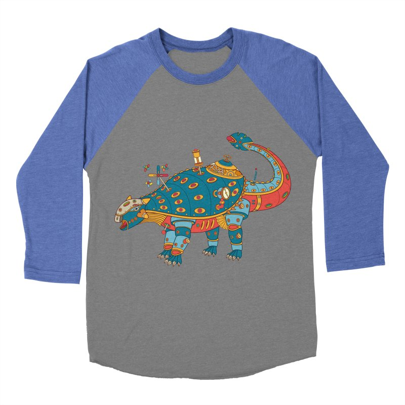 Dinosaur, cool art from the AlphaPod Collection Men's Baseball Triblend T-Shirt by AlphaPod
