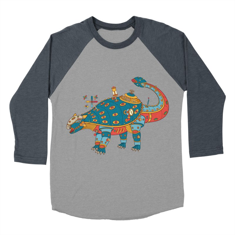 Dinosaur, cool art from the AlphaPod Collection Men's Baseball Triblend Longsleeve T-Shirt by AlphaPod