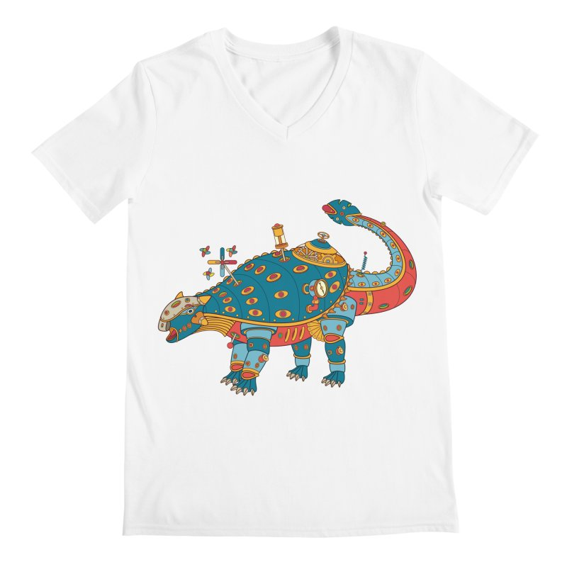 Dinosaur, cool art from the AlphaPod Collection Men's V-Neck by AlphaPod