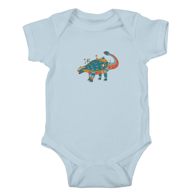 Dinosaur, cool art from the AlphaPod Collection Kids Baby Bodysuit by AlphaPod