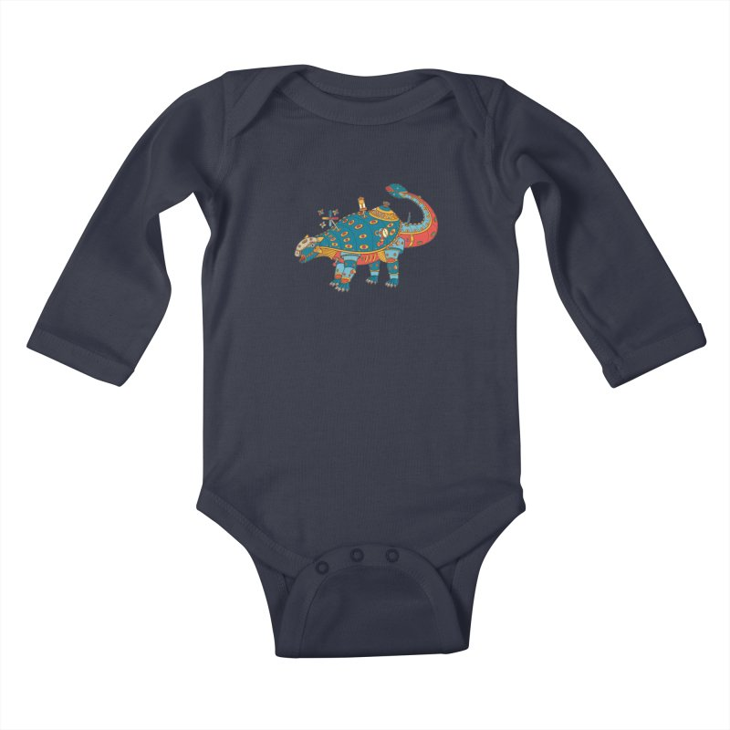 Dinosaur, cool art from the AlphaPod Collection Kids Baby Longsleeve Bodysuit by AlphaPod