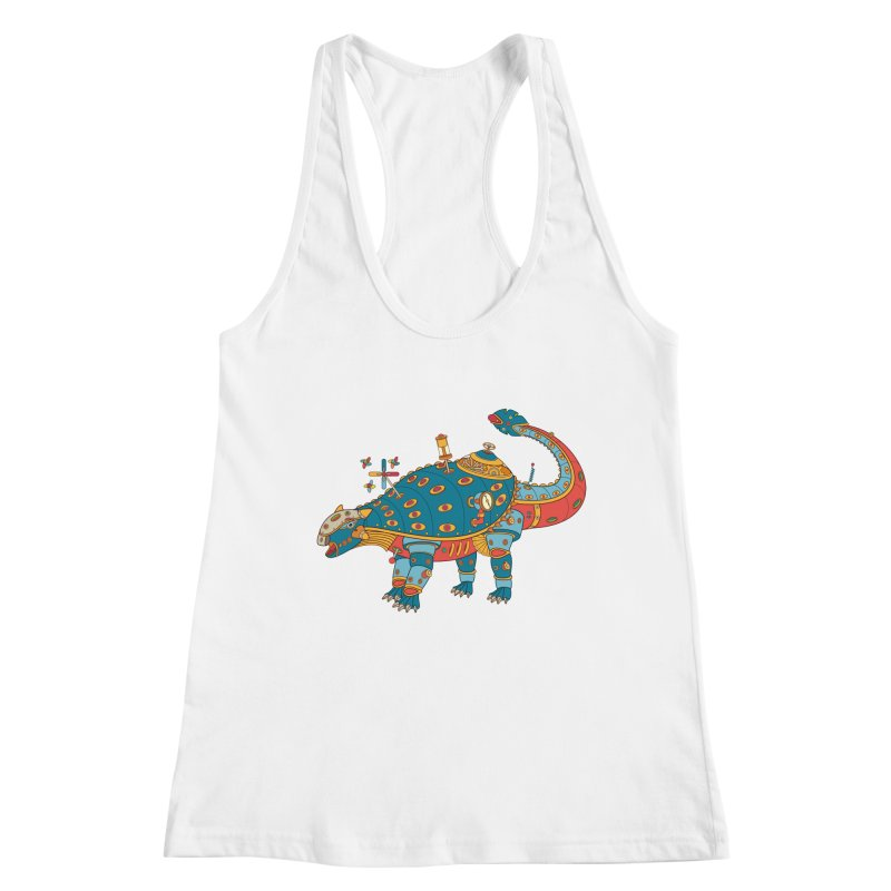 Dinosaur, cool art from the AlphaPod Collection Women's Tank by AlphaPod