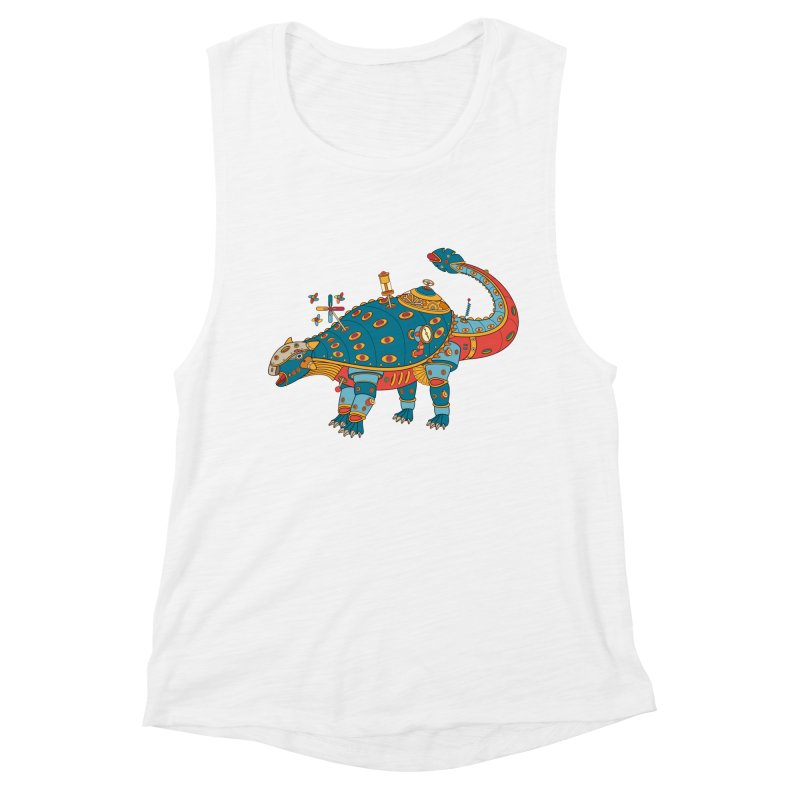 Dinosaur, cool art from the AlphaPod Collection Women's Muscle Tank by AlphaPod